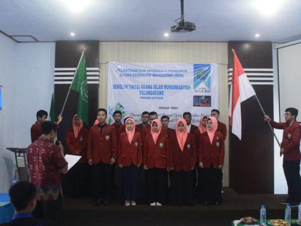 Ketua STAI Muhammadiyah Tulungagung Lantik Pengurus BEM periode 2019-2020
