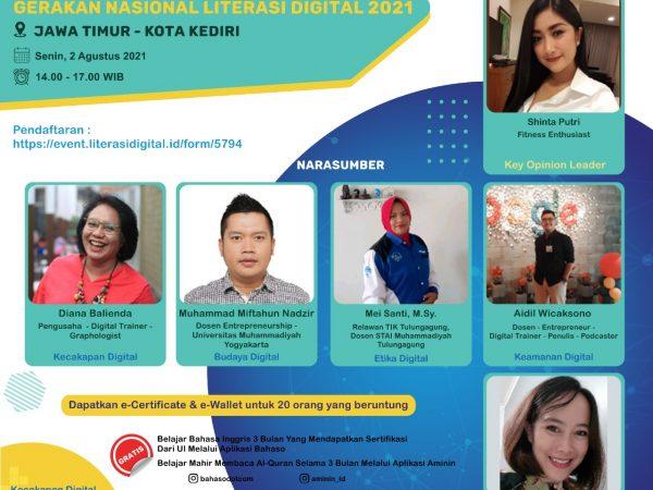 Ikuti  Webinar  Literasi Digital Nasional 2021